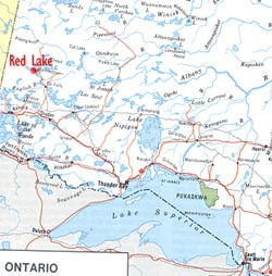 Northwestern Ontario - Select to Enlarge